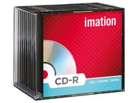 CD-R Imation 700MB 80min 52X slimline 10stuks