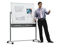Whiteboard Nobo kantelbord 120x90cm magnetich emaille