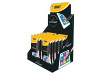 balpen Bic 4-kleuren Stylus display à 12 blisters assorti