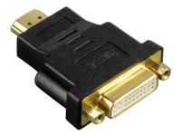 Adapter Hama HDMI plug DVI socket zwart