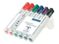 Viltstift Staedtler 351 whiteboard rond assorti 2mm 6stuks