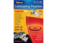 Lamineerhoes Fellowes 65x95mm 2x125micron 100stuks